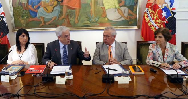 Presidente Piñera Encabeza Primera Reunión Del Comité Intersectorial Por COVID-19