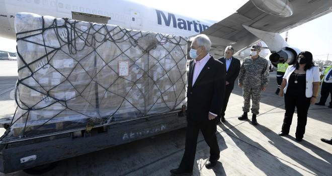 Presidente Piñera Recibe 72 Nuevos Ventiladores Mecánicos
